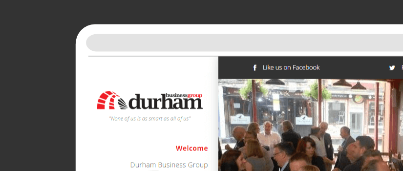 Responsive website design for Durham Business Club