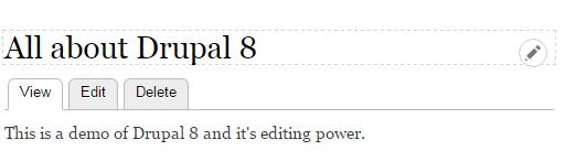 Drupal 8 inline editing demo
