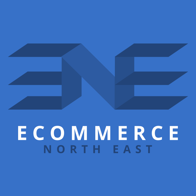 Logo design for the Ecommerce North East user group, who meet in Newcastle upon Tyne - web portfolio entry for Ecommerce North East