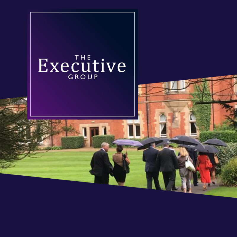 Brand design for exclusive business networking in North East England - web portfolio entry for The Executive Group