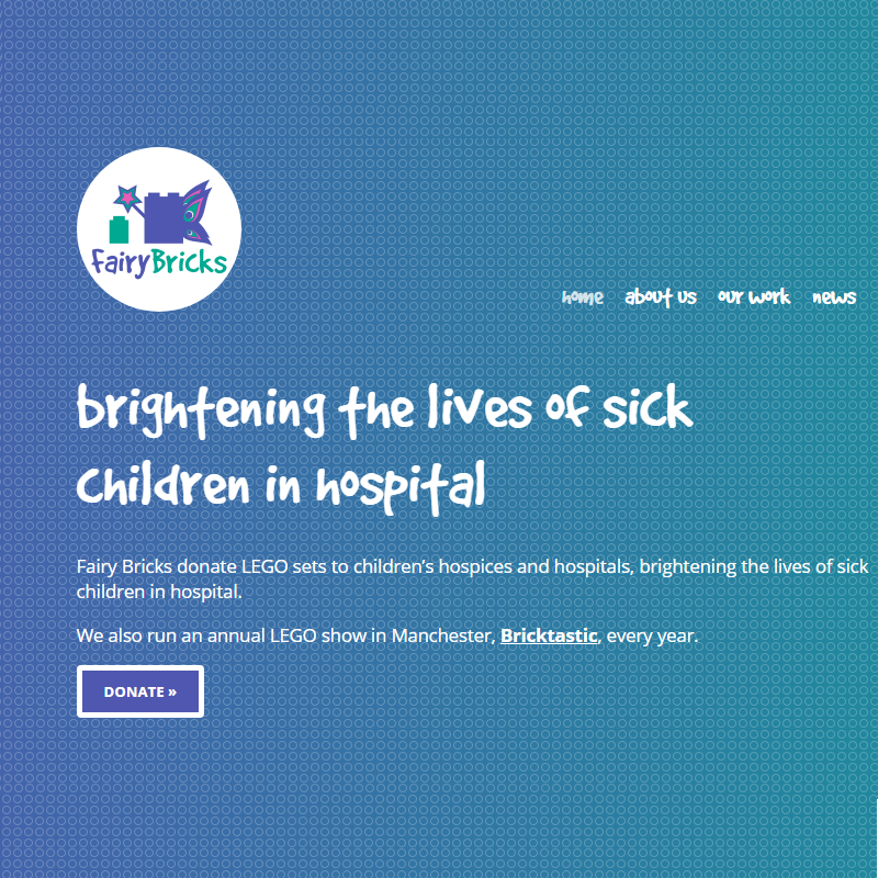 Charity website design for this great cause!