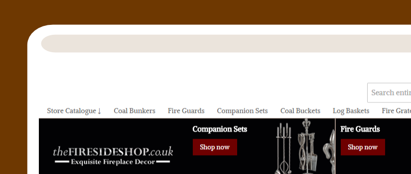 Magento website development for the Fireside Shop UK