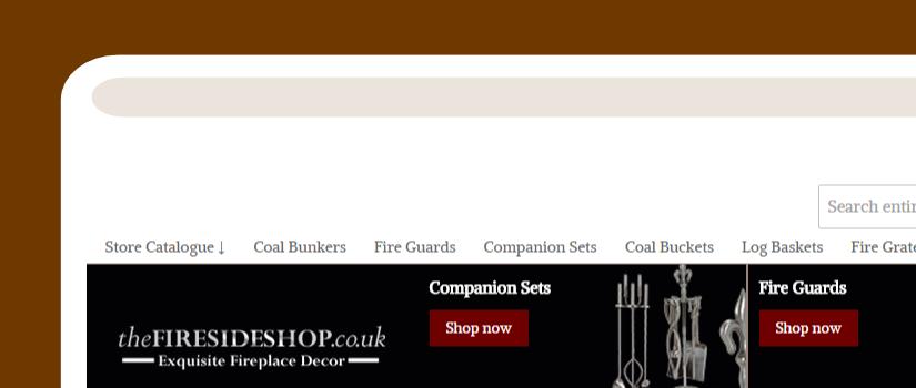 Magento website development for the Fireside Shop UK
