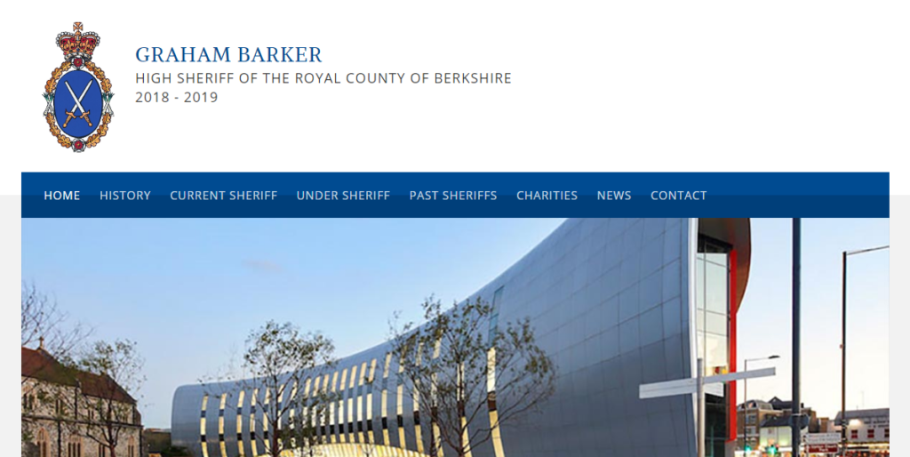 WordPress website design for Berkshire High Sheriff