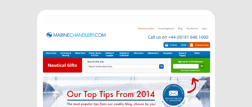 Magento website development for Marine Chandlery