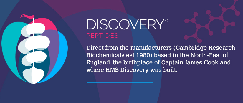 B2B ecommerce website design for Discovery Peptides on Magento