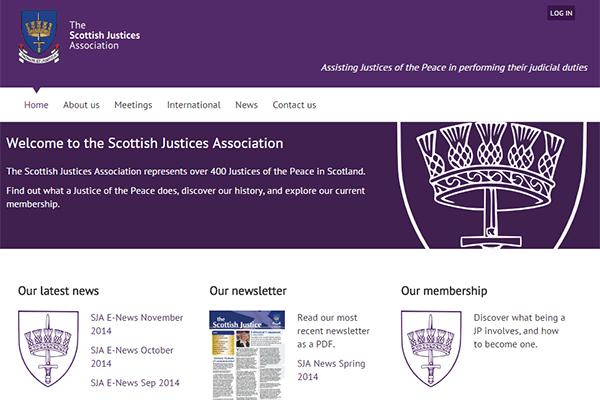 WordPress website design and membership website for SJA
