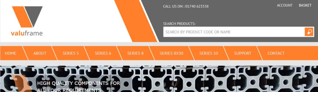 Ecommerce website for design for Stockton business Valuframe