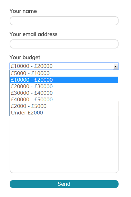 Adding a budget field can help to filter enquiries for you