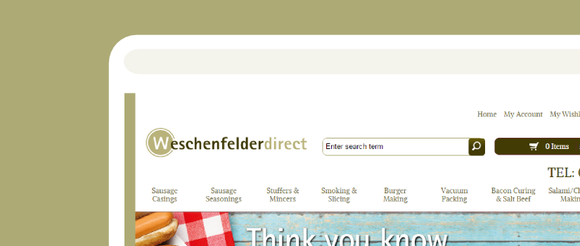 Responsive Magento store development for Weschenfelder UK