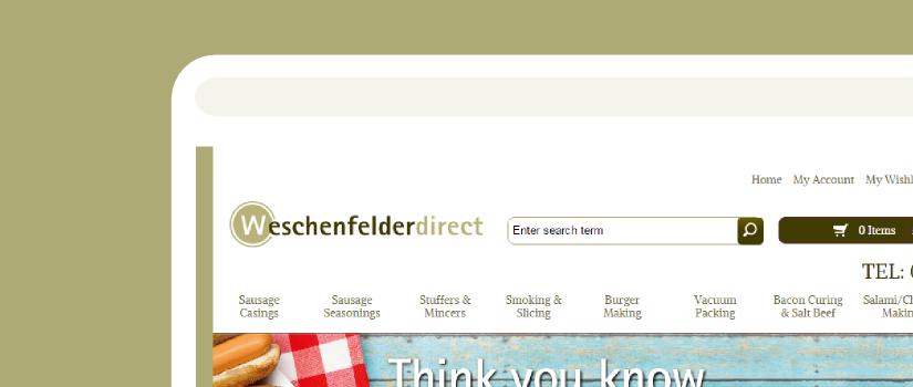 Responsive Magento store development for Weschenfelder UK