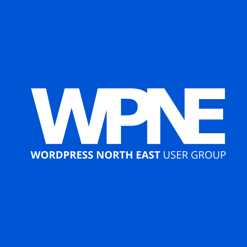 Logo design for the WordPress user group in Newcastle upon Tyne and Gateshead - web portfolio entry for WordPress North East