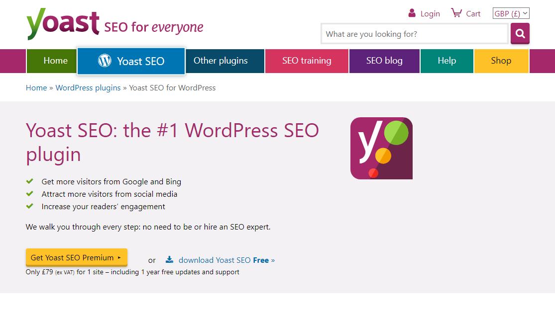 WordPress SEO - Yoast plugin
