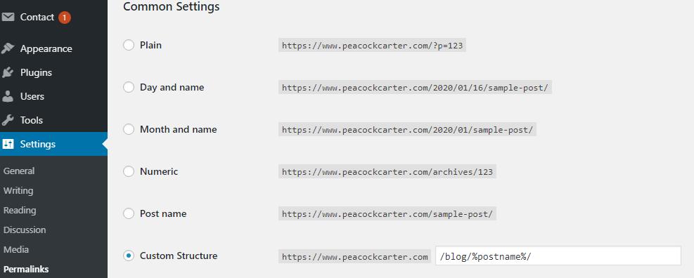 Change WordPress website URLs for better SEO