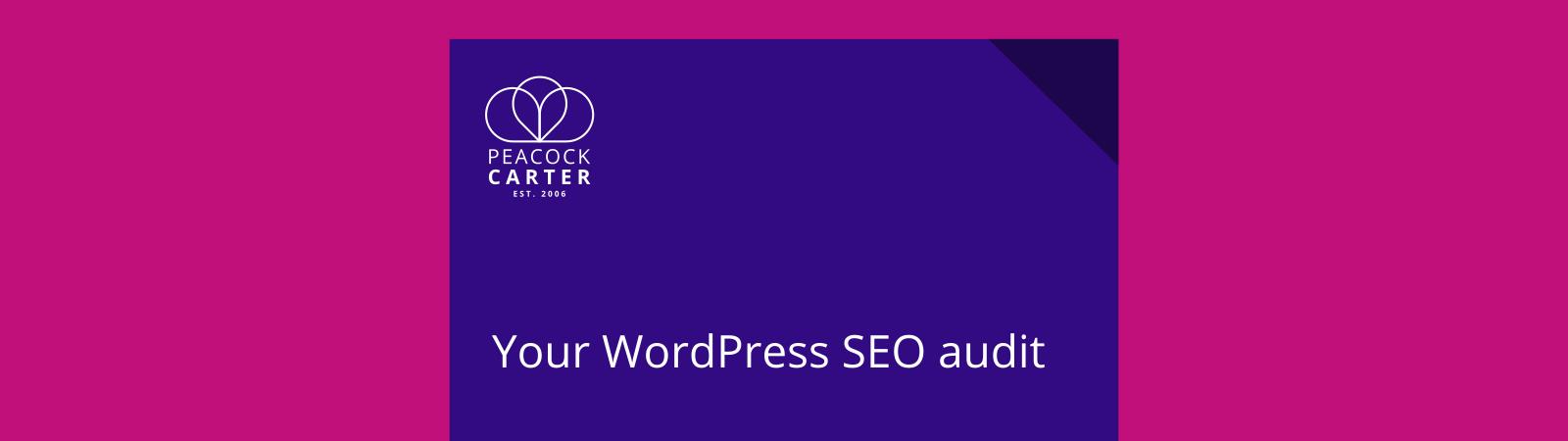 WordPress SEO audits for websites