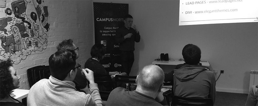 Great landing page tips at WordPress North East