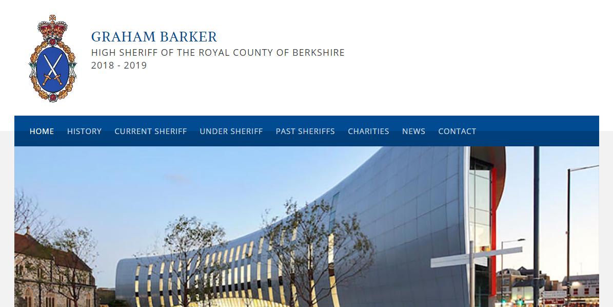 WordPress website design for Berkshire High Sheriff