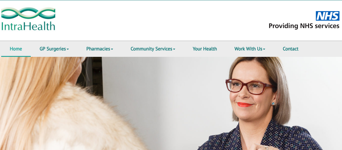 Website design for GP surgeries in the UK
