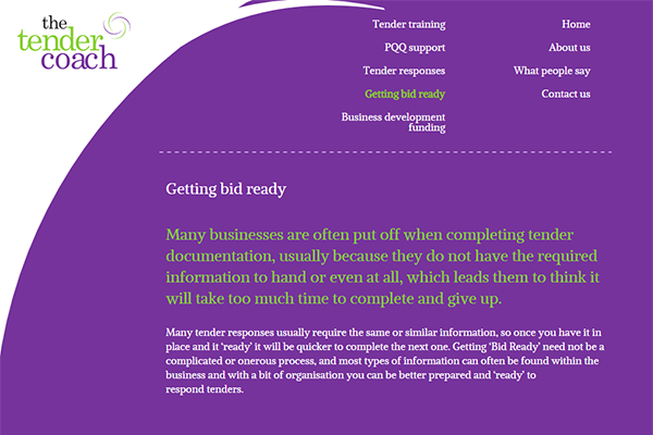 Mobile friendly WordPress website for TTC, North East England